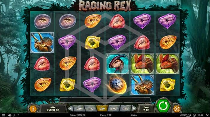 Raging Rex Slot Main Reels Screenshot
