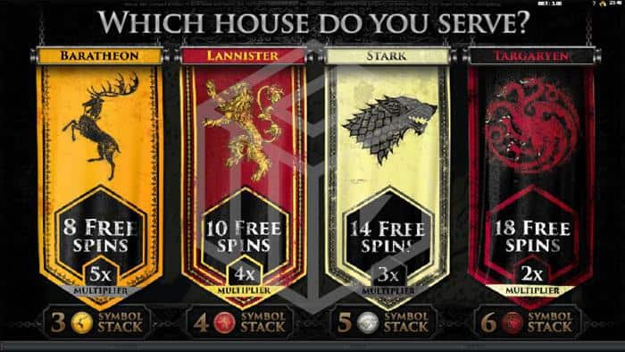 Game Of Thrones Slot Feature Screenshot
