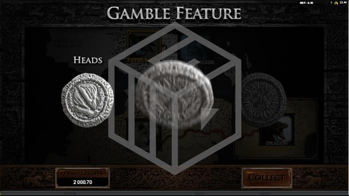 Game Of Thrones Slot Gamble Feature Screenshot