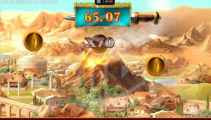 Rome: Rise Of An Empire Slot Big Money Bonus Screenshot