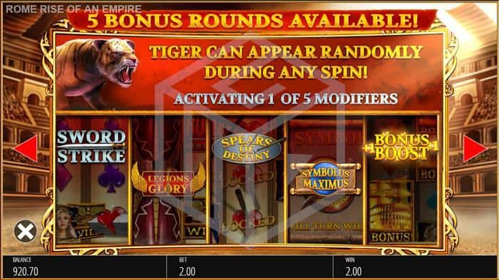 Rome: Rise Of An Empire Slot Random Features Screenshot