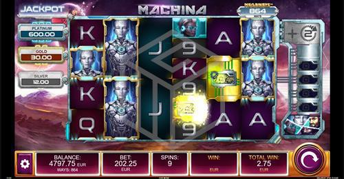 Free Spins Bonus Round in Machina Megaways™ Slot by Kalamba Games, distributed by Relax Gaming and licensed under Big Time Gaming
