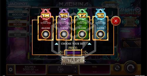 Buy Bonus Feature of Machina Megaways™ Slot by Kalamba Games, distributed by Relax Gaming and licensed under Big Time Gaming