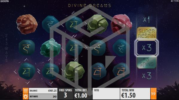 Divine Dreams Slot Feature Screenshot