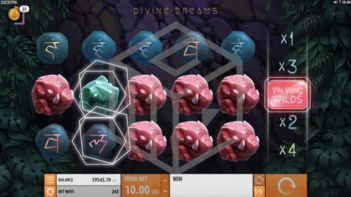 Divine Dreams Slot Yin Yang Feature Screenshot