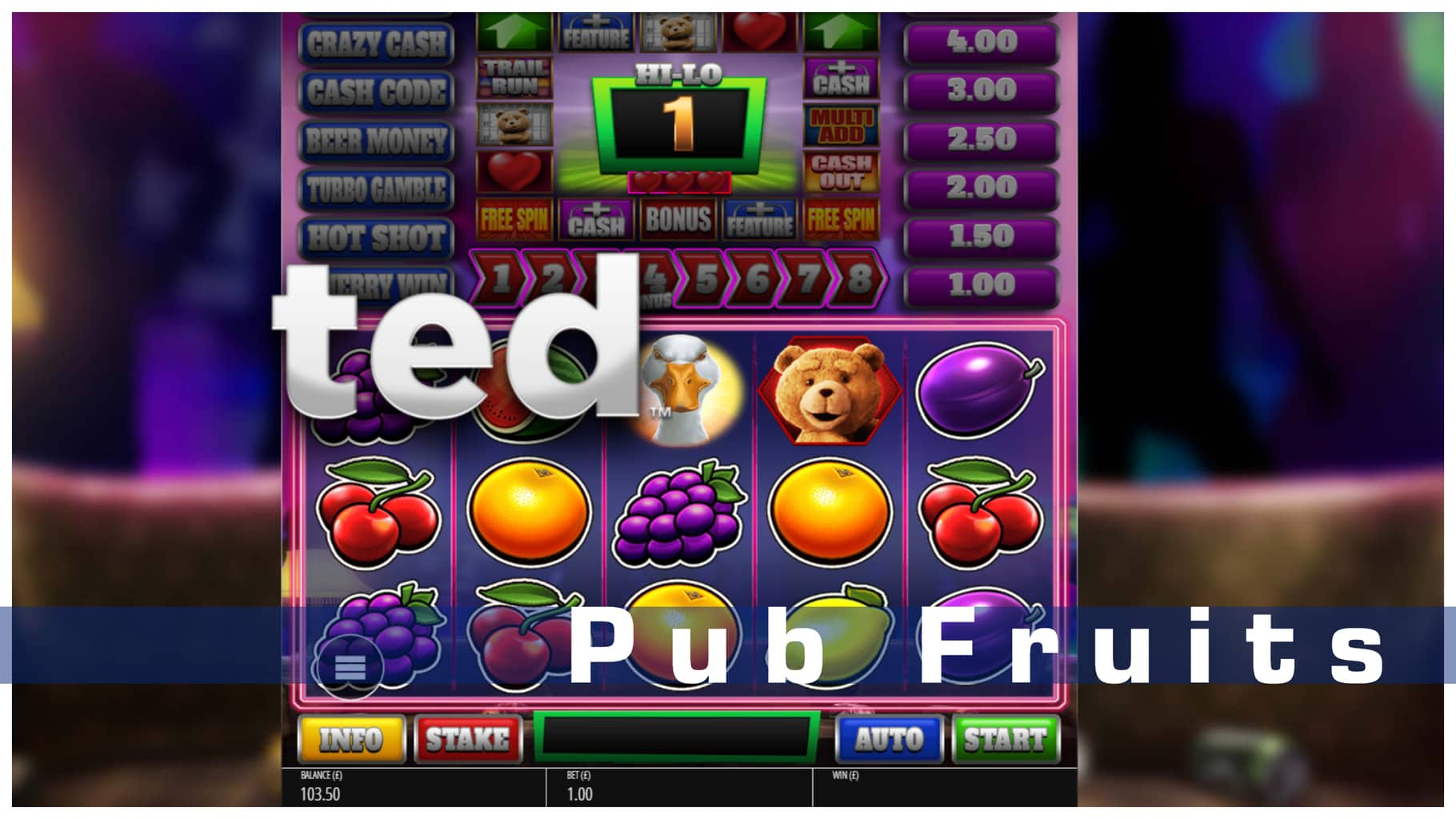 Ted Pub Fruits announced