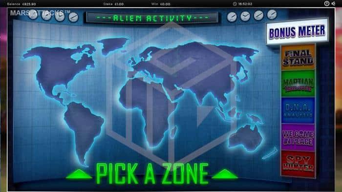 blueprint - mars attacks. Image showing bonus feature