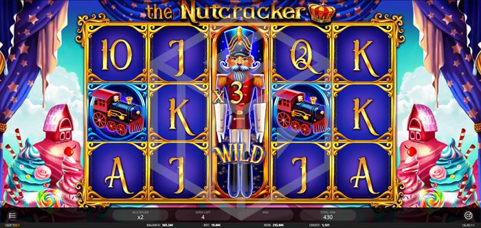 iSoftbet - The nutcracker. Image showing free spin multiplier wild