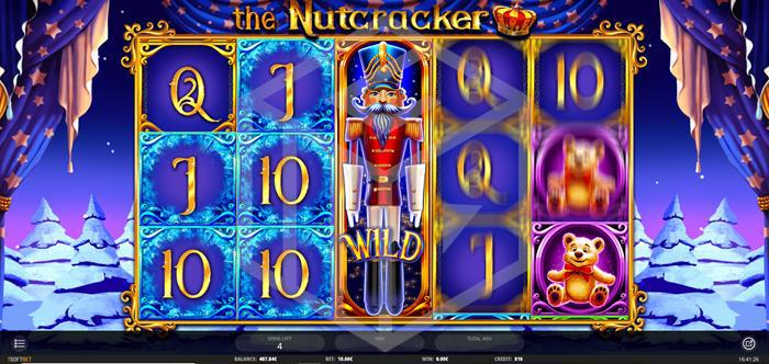 iSoftbet - The nutcracker.Image showing reels during free spins