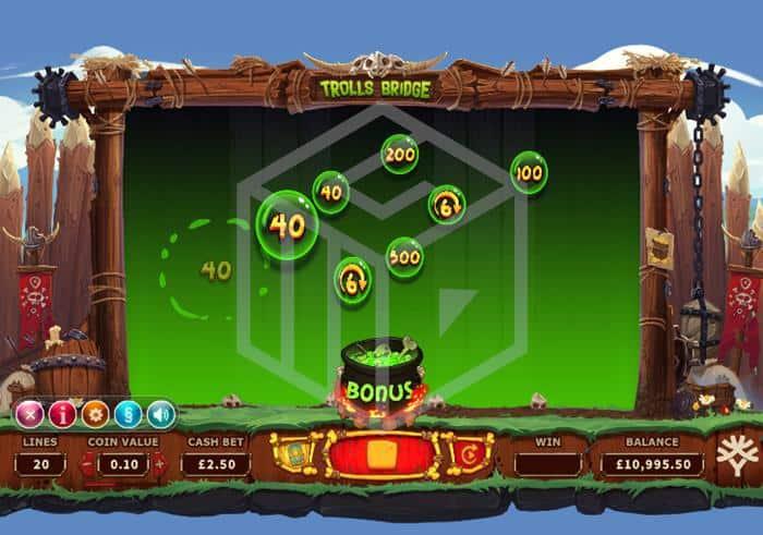 yggdrasil - trolls bridge. Image showing Bonus pot