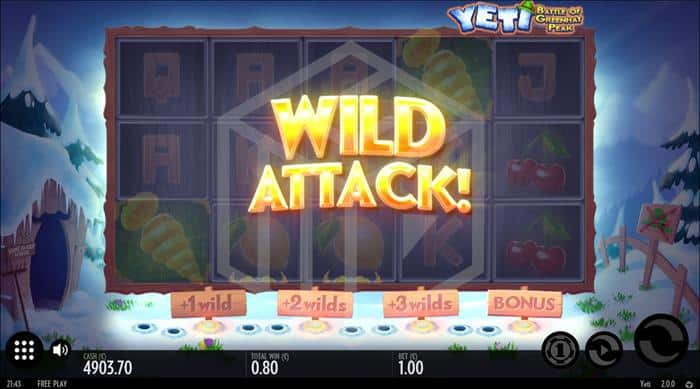 Thunderkick - Yeti. Image showing wild attack