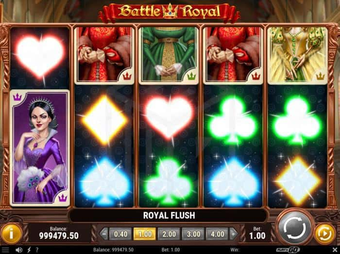 Battle Royal from play'n go full Review - Reels Turning into Royal flush
