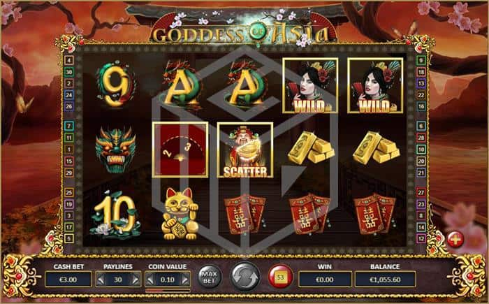 betdigital - goddes of asia. Image showing reels and fan feature