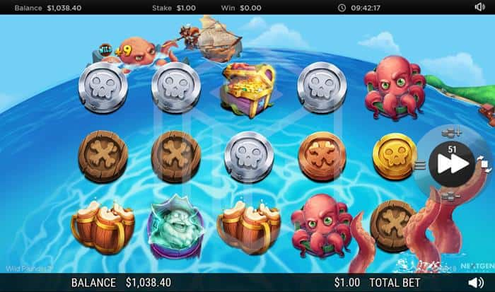 NextGen - Wild Plunder. Image showing Release the kraken feature