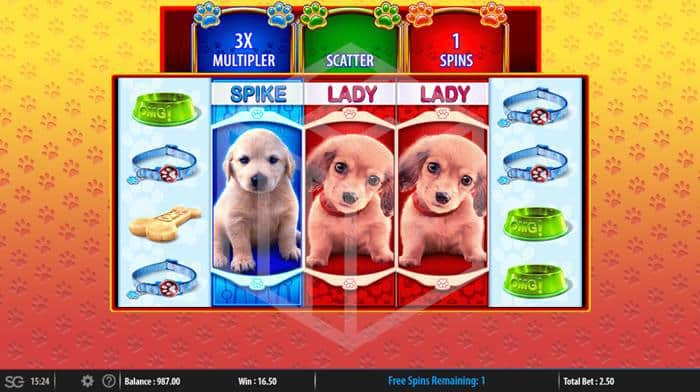 SG - OMG! Puppies. Image showing reels during bonus feature