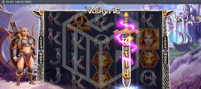 Valkyrie from ELK gaming - full hands-on review- reel covering wild