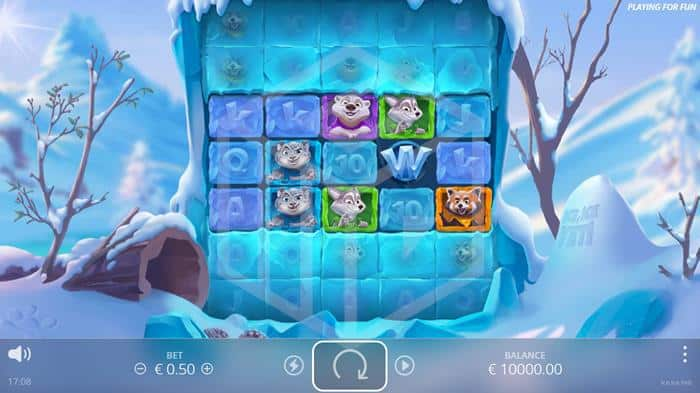 nolimit city - ice ice yeti. Image showing reels