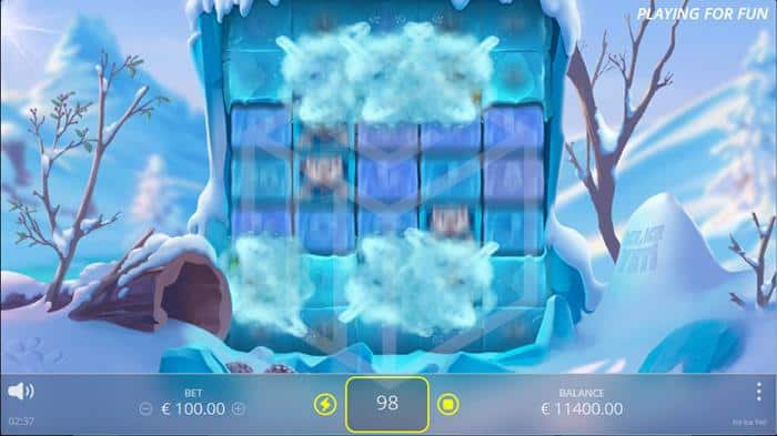 nolimit city - ice ice yeti. Image showing yeti shake
