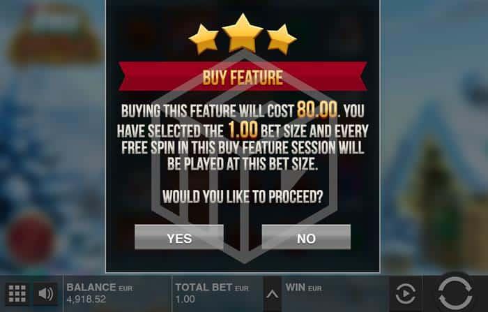 push gaming - fat santa. Image showing bonus buy