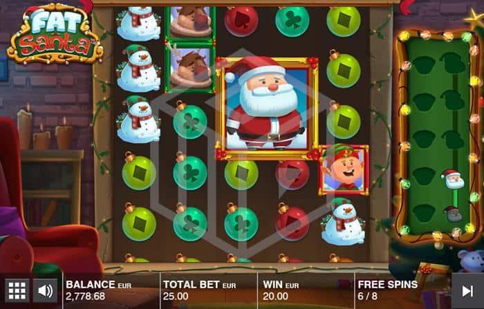 push gaming - fat santa. Image during bonus game
