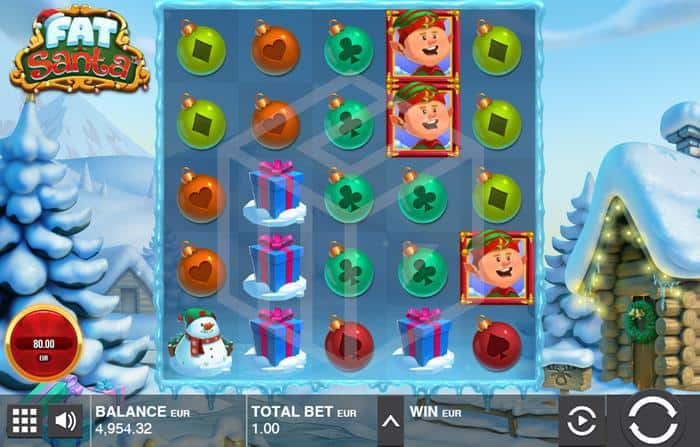 push gaming - fat santa. Image showing reels