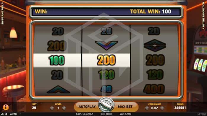 netent - swipe and roll. Image showing bonus wheel2