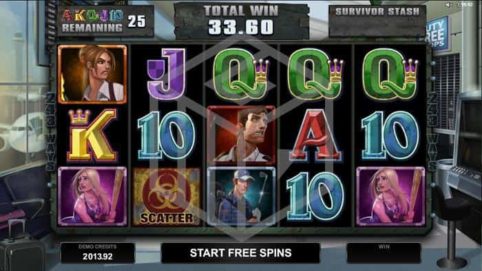 microgaming - lost vegas. Image showing survivor free spins