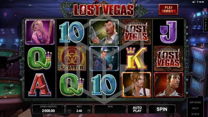 microgaming - lost vegas. Image showing reels and symbols