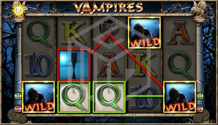 merkur - vampires. Image showing bonus feature trigger