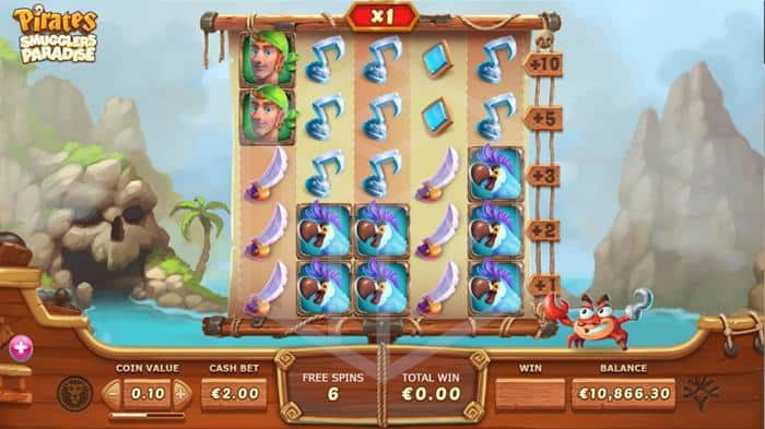 yggdrasil - pirates smugglers paradise. Image showing bonus feature multiplier madness