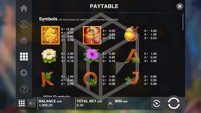 push gaming - wild swarm. Image showing symbols