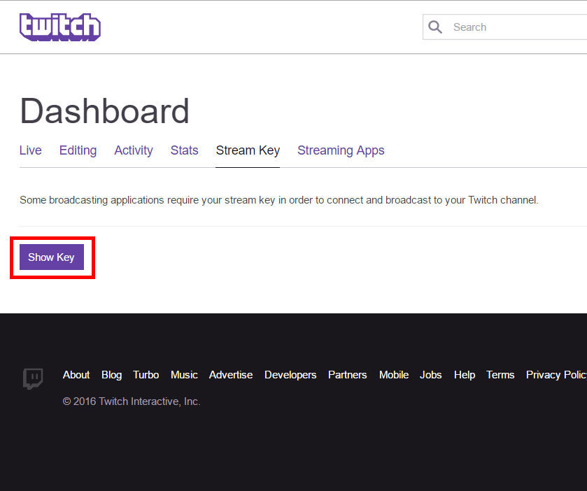 twitch-dashboard-stream-key