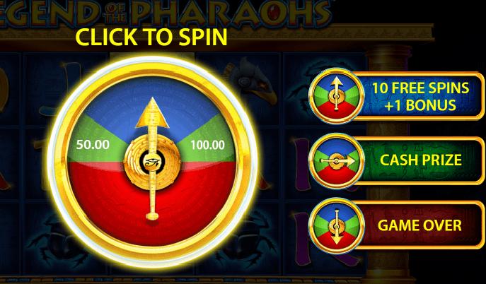 Legend of the Pharaohs wheel big bet