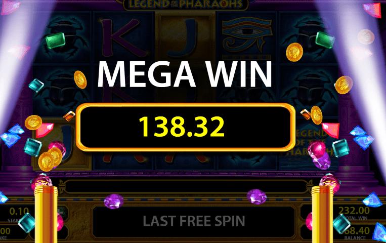 Legend of the Pharaohs slot mega win