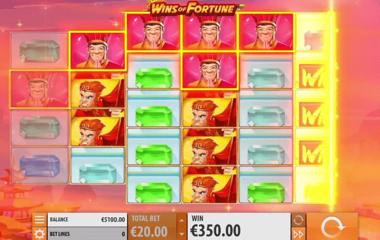 Wins of Fortune re-spin feature