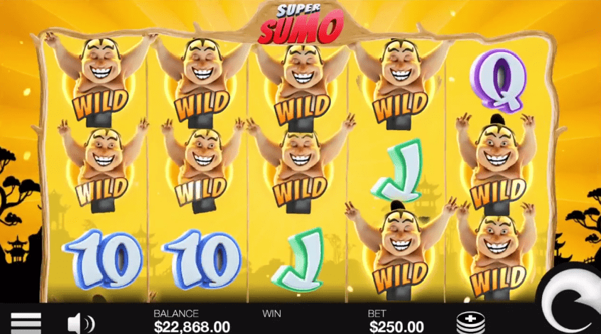 Super Sumo wild re-spin feature