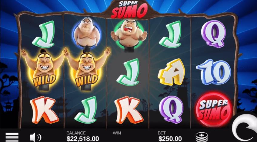 Super Sumo online slot base game