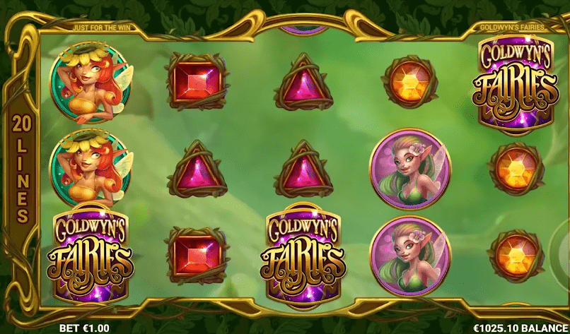 Goldwyn's Fairies slot symbols