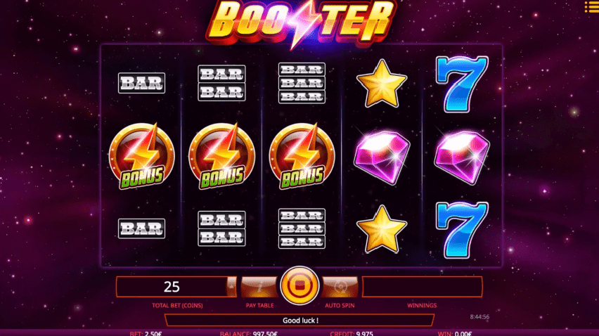 Booster casino slot symbols bars