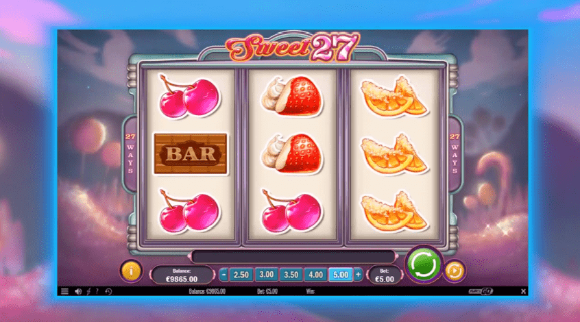 Sweet 27 video slot game
