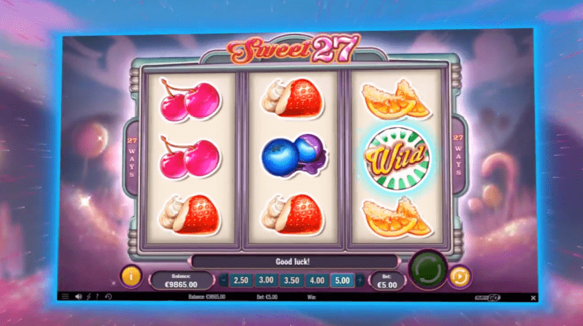 Sweet 27 slot symbols wilds