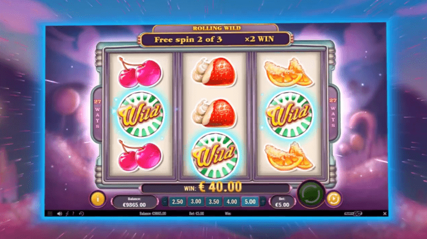 Rolling wilds free spins