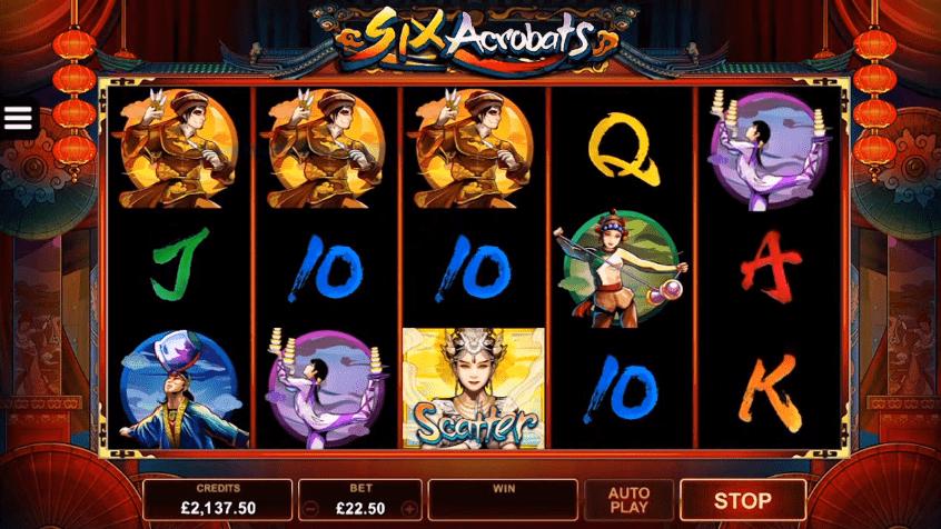 Six Acrobats video slot free play