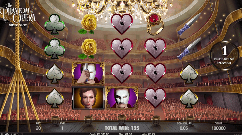 Phantom of the Opera Slot bonus Symbols wilds
