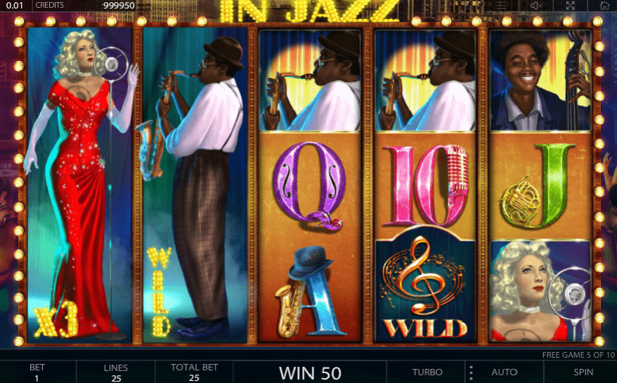 In Jazz slot free spins stacked wilds, multipliers