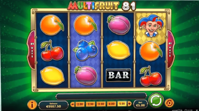 MultiFruit 81 symbols and wilds
