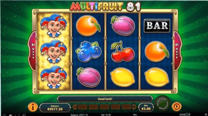 MultiFruit 81 online slot game