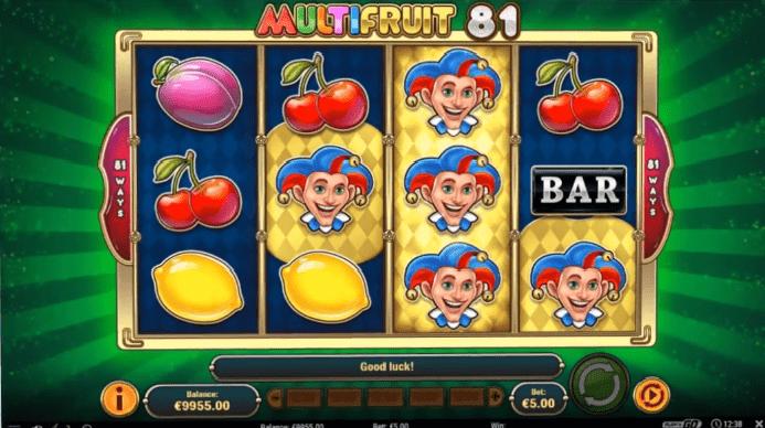 MultiFruit 81 slot wild reel feature