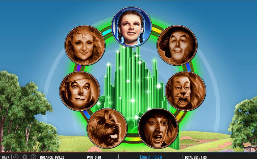Wizard of Oz Road to Emerald City bonus game