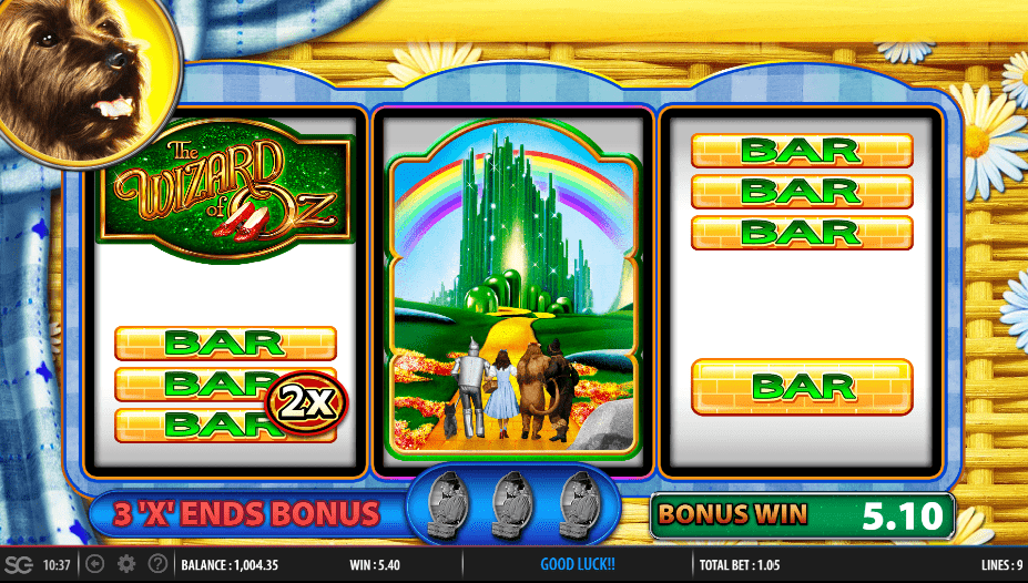 Wizard of Oz Road to Emerald City video slot play